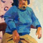 Wendy. Óleo s/ madera. 50 x 70 cm. 1982.