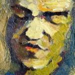 Marcelo / detalle. Óleo s/ madera. 50 x 70 cm. 1982. Colección privada.