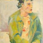 Carolina. Óleo s/ madera. 50 x 70 cm. 1982. Colección privada.