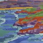 Acantilados 2, Farol de Santa Marta, Brasil, 2002. Óleo sobre tela, 70 cm x 50 cm.