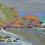 Tarde, Prainha, Farol de Santa Marta, Brasil, 2006. Óleo sobre tela, 50 cm x 40 cm.