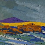 Praia Grande, Farol de Santa Marta, Brasil, 2004. Óleo sobre tela, 70 cm x 50 cm.