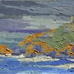 Nubes, Farol de Santa Marta, Brasil, 2004. Óleo sobre tela, 50 cm x 40 cm.