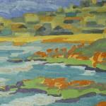 Mañana, Prainha, Farol de Santa Marta, Brasil, 2006. Óleo sobre tela, 70 cm x 50 cm.