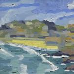 Tarde, Prainha, Farol de Santa Marta, Brasil, 2006. Óleo sobre tela, 70 cm x 50 cm.