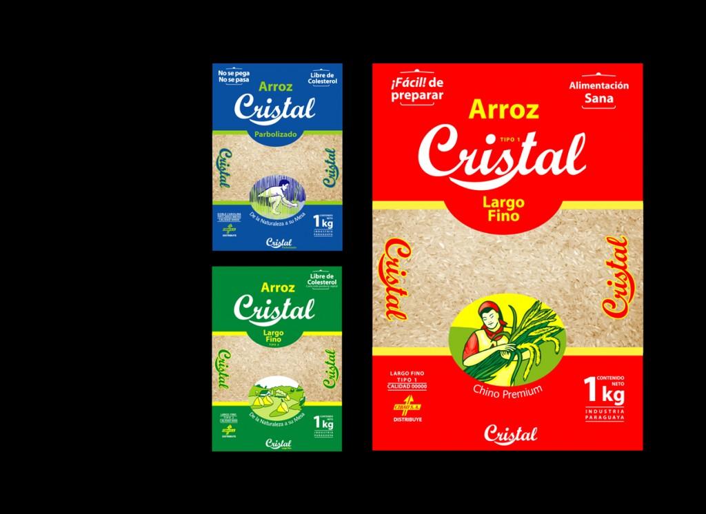 Arroz Cristal.